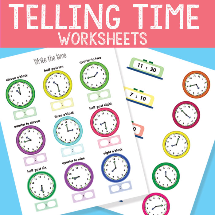Telling Time Worksheets - Revision To The Quarter Hour - Easy