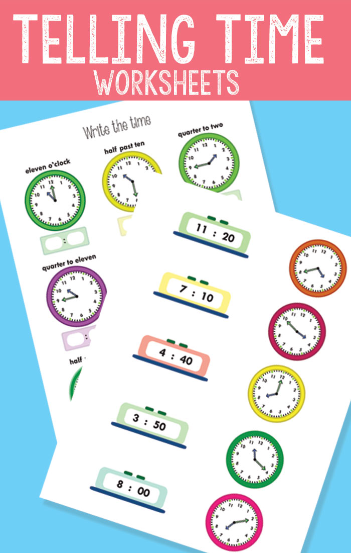 Telling Time Worksheets  Revision To The Quarter Hour  Easy Peasy