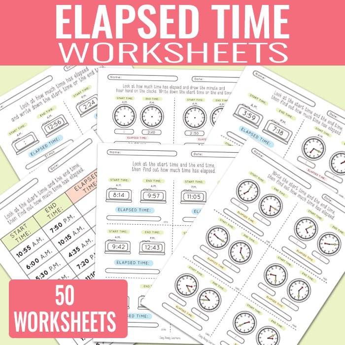 Elapsed Time Worksheets Easy Peasy Learners – Elasped Time Worksheets