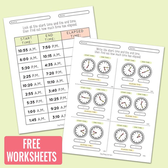 Elapsed Time Worksheets Easy Peasy Learners – Time Practice Worksheets