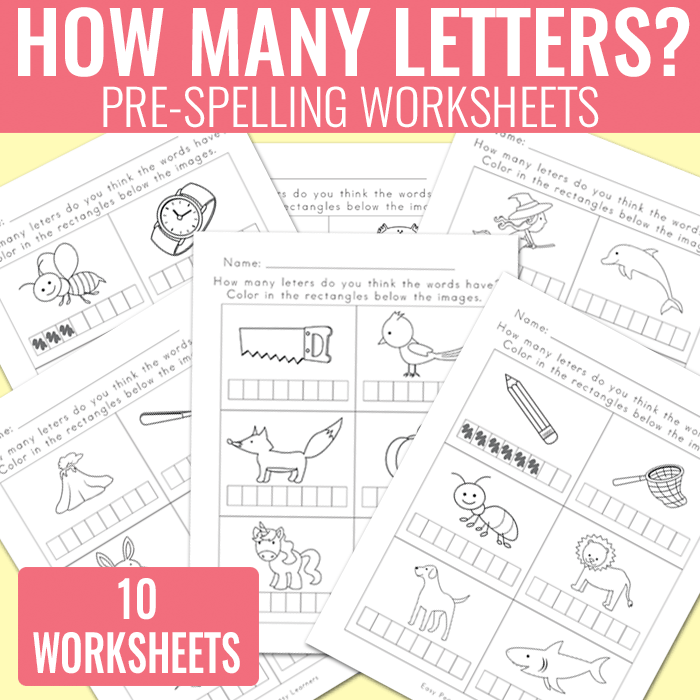 How Many Letters Worksheets