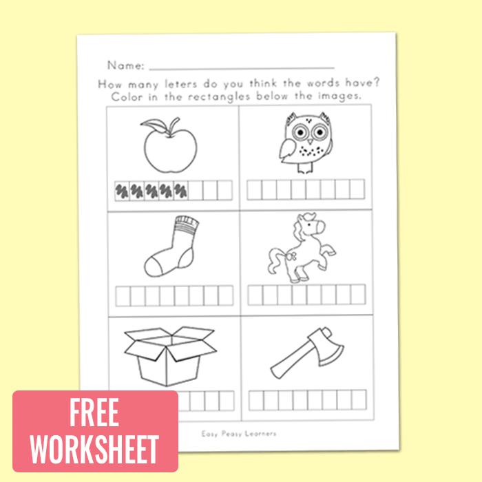Pre-Spelling Worksheet