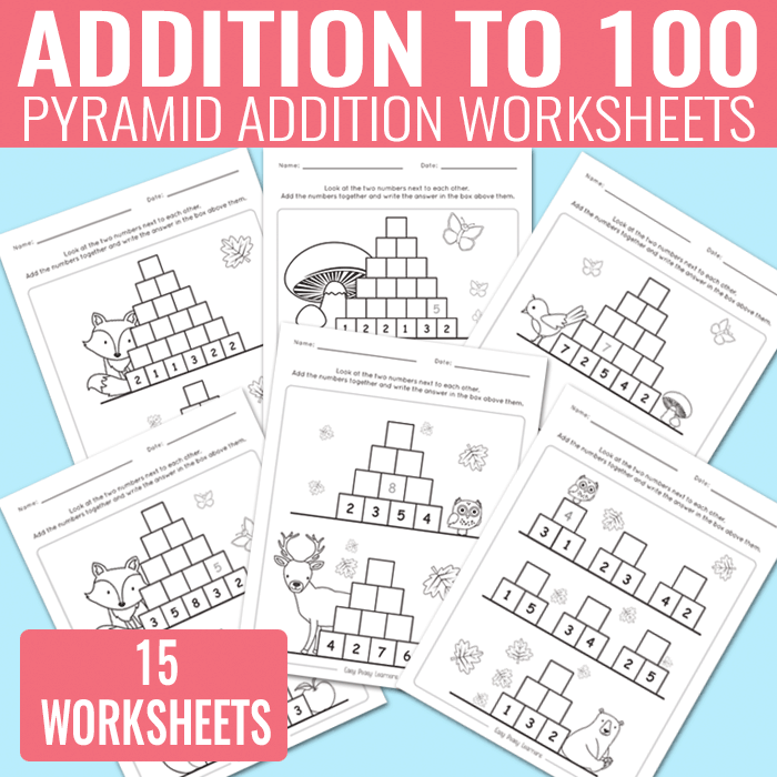 Addition Worksheets to 100