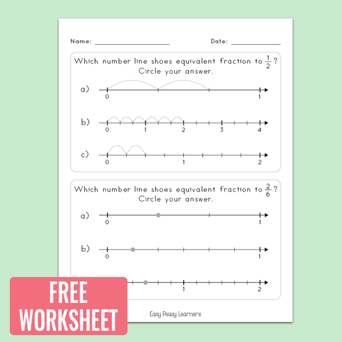 Fractions on a Number Line Worksheets Math Worksheets Easy – Free Math Worksheets Number Lines