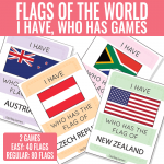 I Have Who Has Flags Games