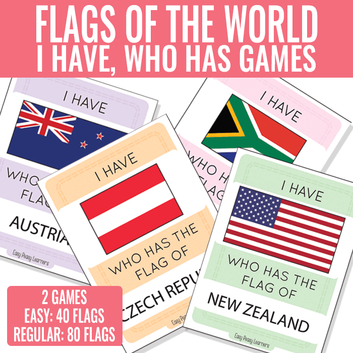I Have Who Has Flags Card Games