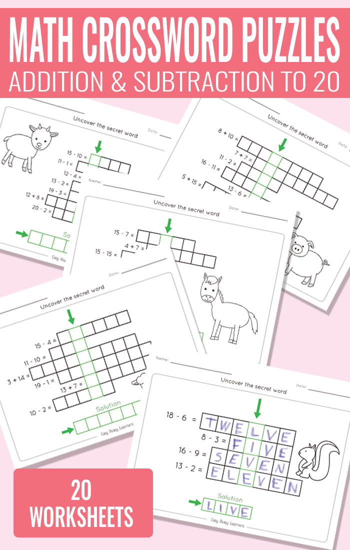addition and subtraction worksheets Archives Easy Peasy Learners – Addition and Subtraction Worksheets to 20