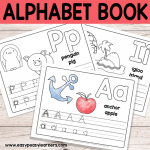 Free Printable Alphabet Book – Alphabet Worksheets for Pre-K and K
