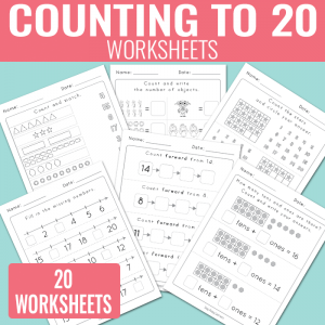 Counting to 20 Worksheets – Kindergarten Math Worksheets