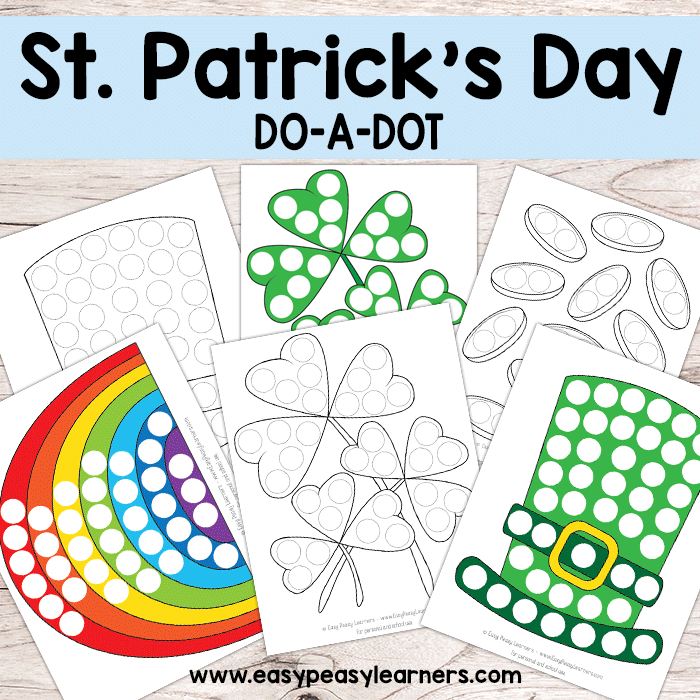 St. Patricks Day Do a Dot Printables