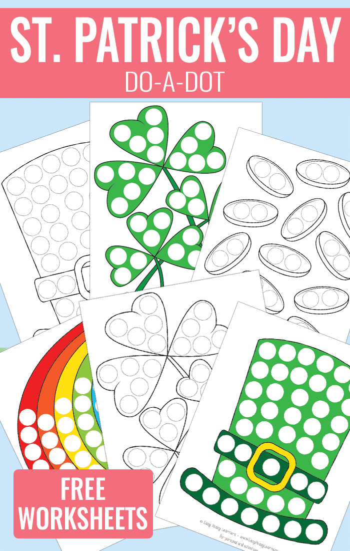 St Patricks Day Do a Dot Worksheets Free Printable