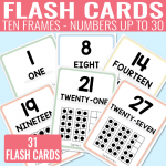 Printable Ten Frame Flash Cards