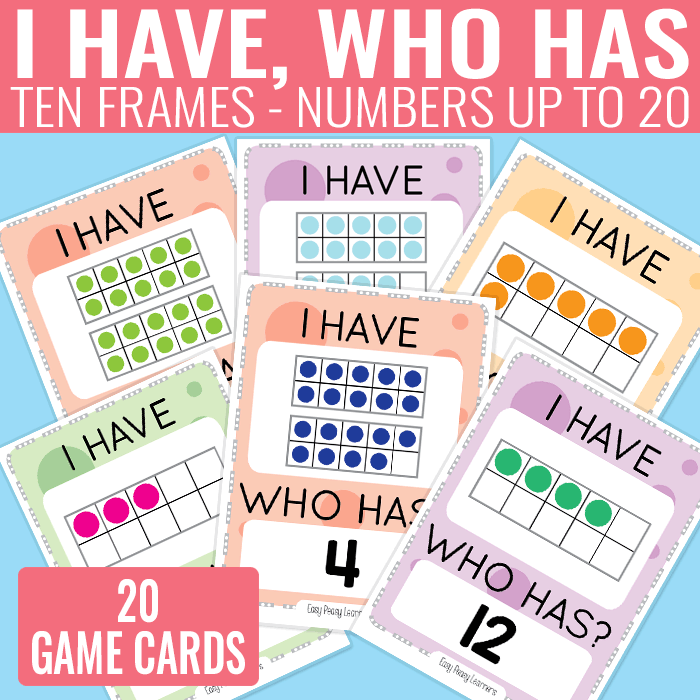 Ten Frames up to 20 Card Game