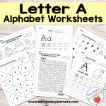 Letter A Worksheets – Alphabet Series