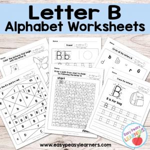 Letter B Worksheets – Alphabet Series