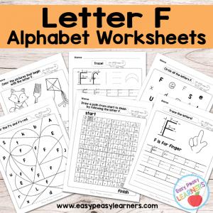 Letter F Worksheets – Alphabet Series