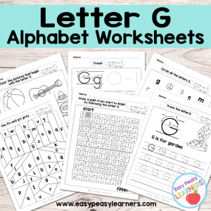 Letter G Worksheets – Alphabet Series