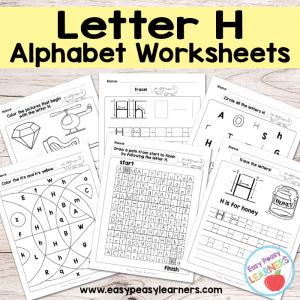 Letter H Worksheets – Alphabet Series