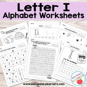 Letter I Worksheets – Alphabet Series