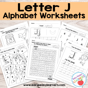 Letter J Worksheets – Alphabet Series