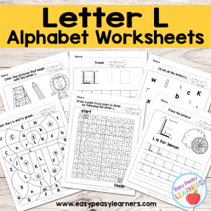 Letter L Worksheets – Alphabet Series