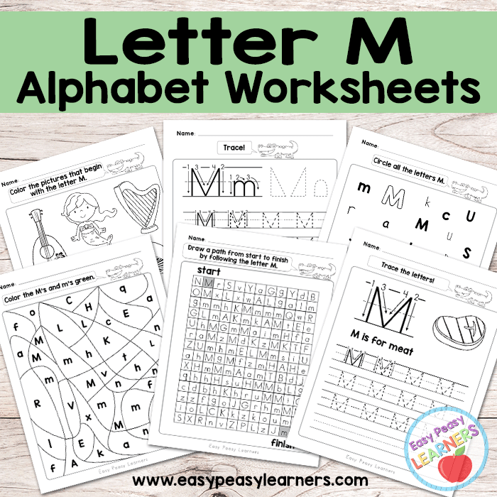 Alphabet Worksheets - Letter M