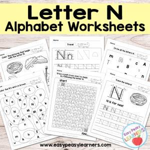 Letter N Worksheets – Alphabet Series