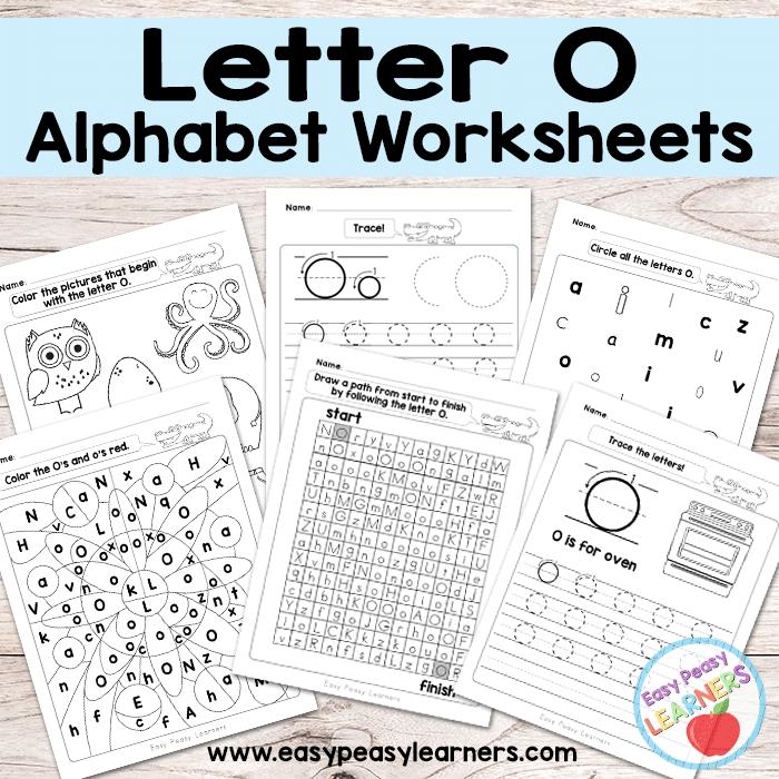 Alphabet Worksheets - Letter O