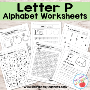 Letter P Worksheets – Alphabet Series