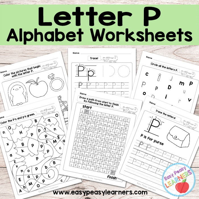 Letter P Worksheets Alphabet Series Easy Peasy Learners – Letter P Worksheets