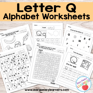 Letter Q Worksheets – Alphabet Series