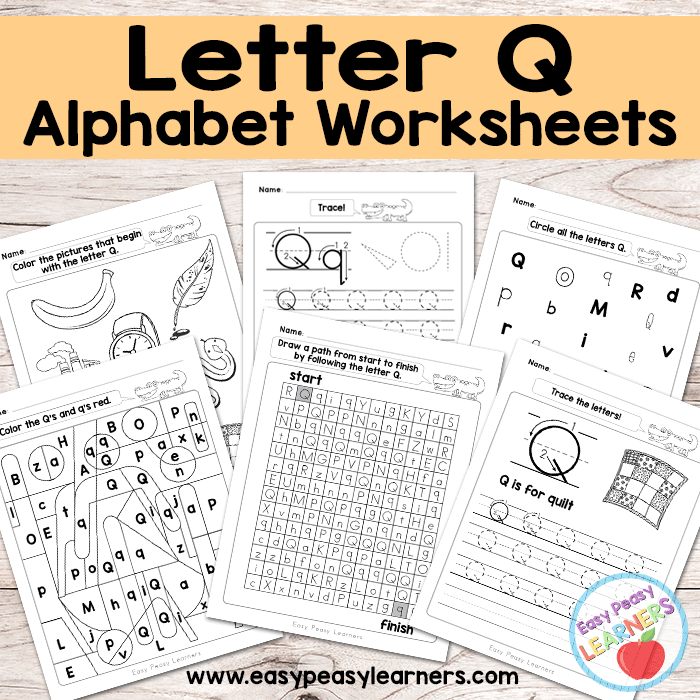 Alphabet Worksheets - Letter Q