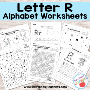 Letter R Worksheets – Alphabet Series