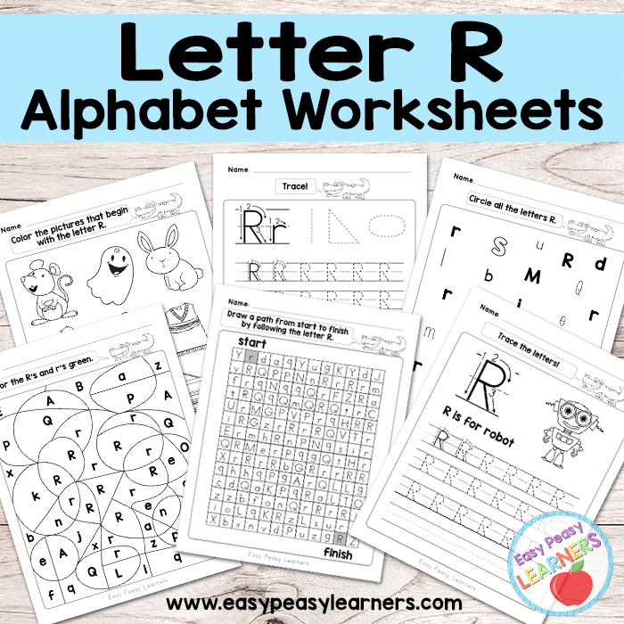 Alphabet Worksheets - Letter R