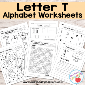 Letter T Worksheets – Alphabet Series