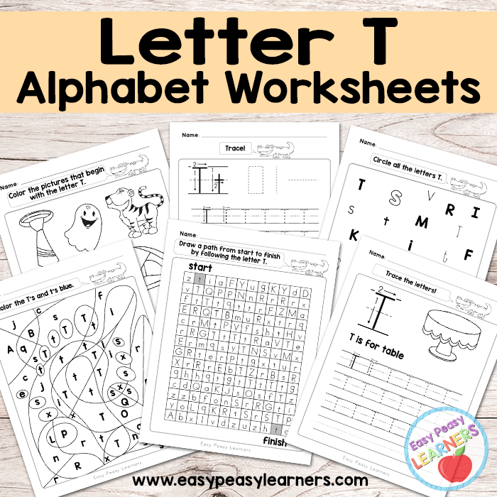 Letter T Worksheets Alphabet Series Easy Peasy Learners – Letter T Worksheets