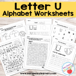 Letter U Worksheets – Alphabet Series
