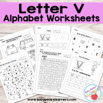 Letter V Worksheets – Alphabet Series