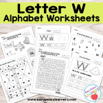 Letter W Worksheets – Alphabet Series