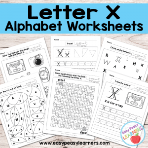 Letter X Worksheets – Alphabet Series