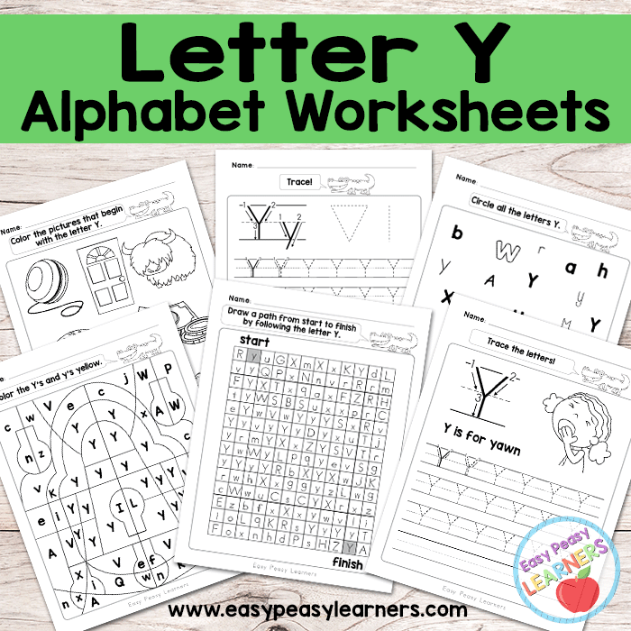 Letter Y Worksheets Alphabet Series Easy Peasy Learners – Letter Y Worksheets
