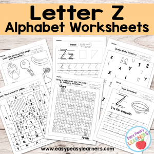 Letter Z Worksheets – Alphabet Series