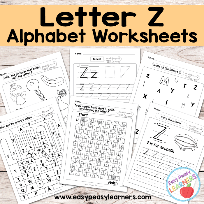 Alphabet Worksheets - Letter Z