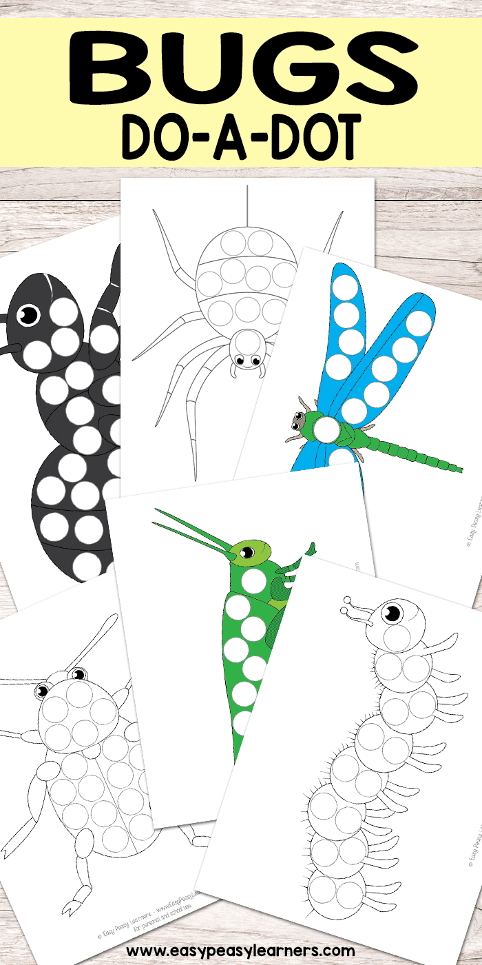 bug do a dot printables easy peasy learners