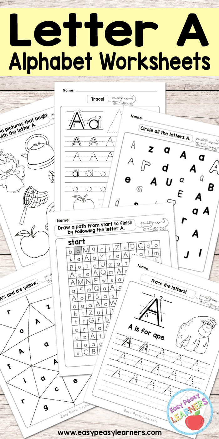 Simple Abc Worksheets : Letter a worksheets alphabet series easy peasy learners