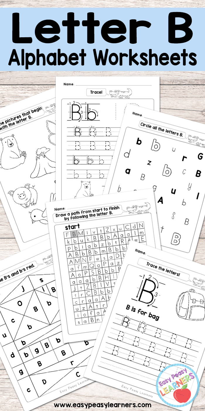 worksheet Letter B Worksheets For Preschool letter b worksheets alphabet series easy peasy learners free printable series