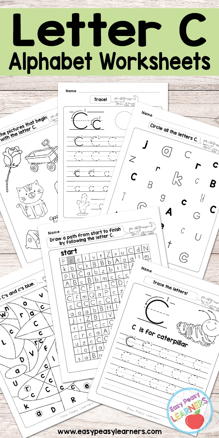 worksheet Alphabet Recognition Worksheets letter c worksheets alphabet series easy peasy learners free printable series