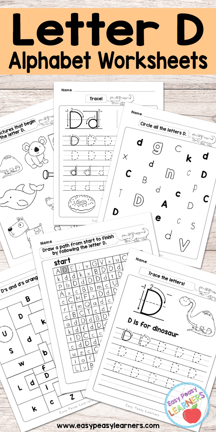 Free Printable Letter D Worksheets - Alphabet Worksheets Series