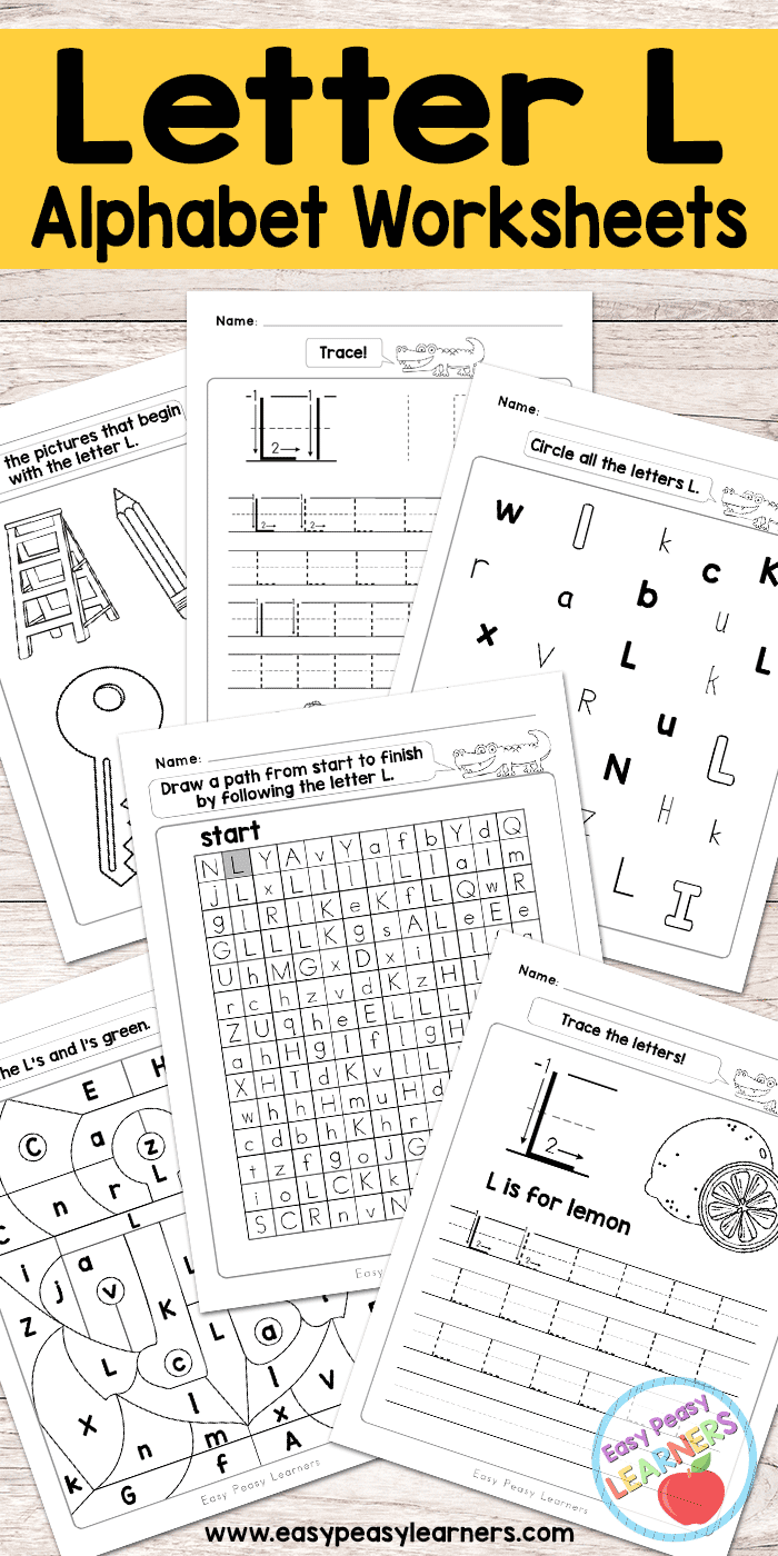 worksheet Letter L Worksheets letter l worksheets alphabet series easy peasy learners free printable series
