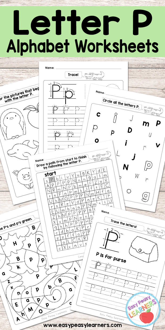 Free Printable Letter P Worksheets - Alphabet Worksheets Series